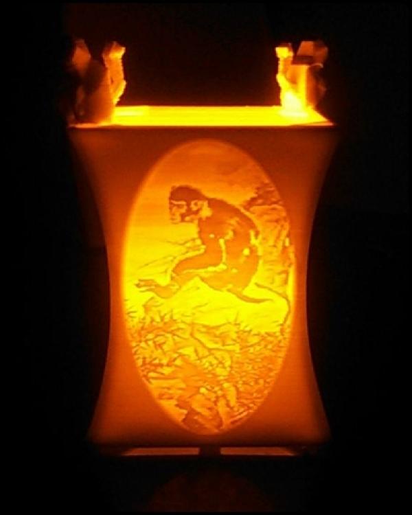 祥猴獻瑞 猴年行大運作品燈製作說明